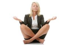 donne di affari che meditating Fotografia Stock Libera da Diritti