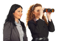 Donne di affari che osservano al futuro Fotografia Stock
