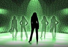 Donne di affari con i numeri Fotografia Stock