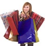 Donne di affari con il gruppo di acquisto del sacchetto. Fotografia Stock Libera da Diritti
