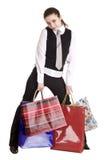 Donne di affari con il gruppo di acquisto del sacchetto. Fotografia Stock