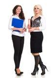 Donne di affari con le cartelle Fotografia Stock