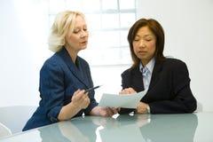 Donne di affari nella riunione Fotografia Stock