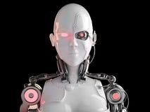 Donne di androide del robot Fotografia Stock Libera da Diritti