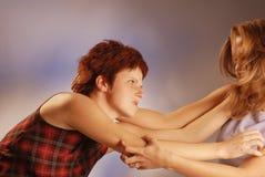 Donne di combattimento immagini stock libere da diritti