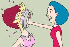 Donne di combattimento del grafico a torta royalty illustrazione gratis