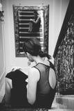 Donne di fascino in vestiti da sera Fotografia Stock Libera da Diritti