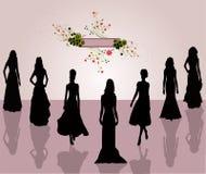 Donne di modo di stile - vettore Fotografia Stock