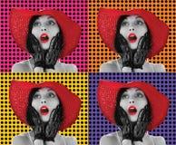 Donne di Pop art Fotografia Stock Libera da Diritti