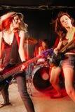 Donne di rock-and-roll Fotografia Stock Libera da Diritti