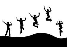 Donne di salto Immagine Stock