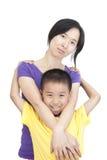 Donne e bambini Fotografie Stock Libere da Diritti