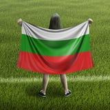 Donne e bandiera bulgara illustrazione vettoriale