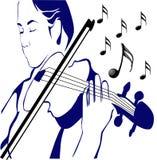 Donne e musica Immagine Stock
