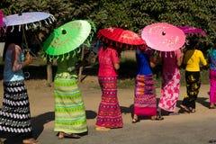 Donne ed ombrelli Immagine Stock Libera da Diritti