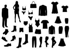Donne ed uomini impostati Fotografia Stock Libera da Diritti