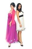 Donne eleganti in vestiti da partito Fotografie Stock Libere da Diritti