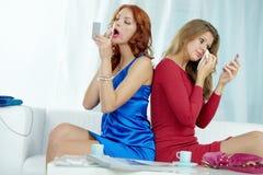 Donne emozionali Fotografia Stock