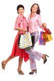 Donne felici d'acquisto. fotografia stock libera da diritti