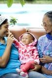 donne felici del ritratto tre della generazione insieme Immagine Stock