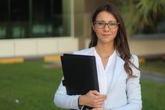 Donne felici di affari - immagine di riserva Immagini Stock