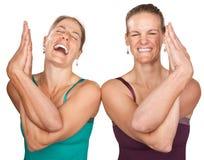 Donne felici di yoga Fotografia Stock Libera da Diritti