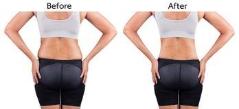 Donne grasse dalla parte posteriore immagini stock