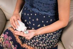 Donne incinte Fotografie Stock Libere da Diritti