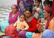 Donne indiane che cantano Fotografie Stock