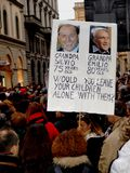 Donne italiane contro il Primo Ministro Berlusconi Fotografia Stock Libera da Diritti