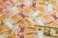 Donne à la devise une consistance rugueuse de billet de banque d'argent Photo libre de droits