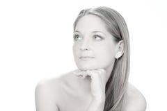 Donne lunghe dei capelli Fotografie Stock