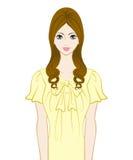 Donne lunghe dei capelli illustrazione di stock