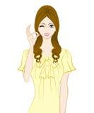 Donne lunghe dei capelli, segno GIUSTO illustrazione di stock