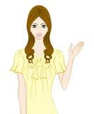 Donne lunghe dei capelli, spieganti illustrazione vettoriale