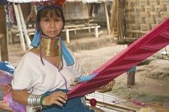 donne Lungo-con il collo della collina-tribù immagini stock libere da diritti