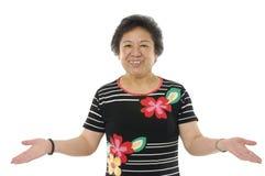 Donne maggiori asiatiche fotografie stock