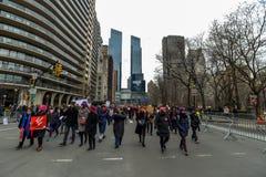 Donne marzo 2019 - New York fotografie stock