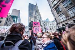 Donne marzo 2017 NYC Immagine Stock Libera da Diritti