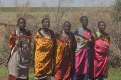 Donne masaie che cantano il Kenya Immagine Stock