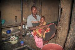 Donne masaie con il bambino Immagine Stock Libera da Diritti