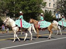 Donne messicane del cavallo Immagine Stock