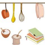 Donne minuscole nella cucina illustrazione di stock