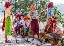 Donne Myanmar dello Shan di Kalaw Immagini Stock