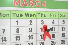 Donne nazionali e Girl& x27; concetto di giorno di consapevolezza di s HIV/AIDS Fotografia Stock