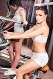 Donne nel centro di ginnastica Fotografia Stock