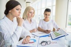 Donne nell'affare Immagine Stock