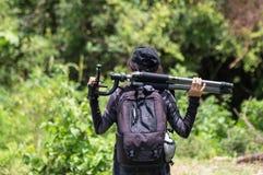 Donne nella foresta fotografia stock