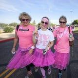 Donne nella passeggiata di consapevolezza del cancro al seno immagine stock libera da diritti