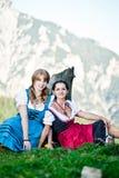 Donne nelle alpi austriache Immagine Stock Libera da Diritti